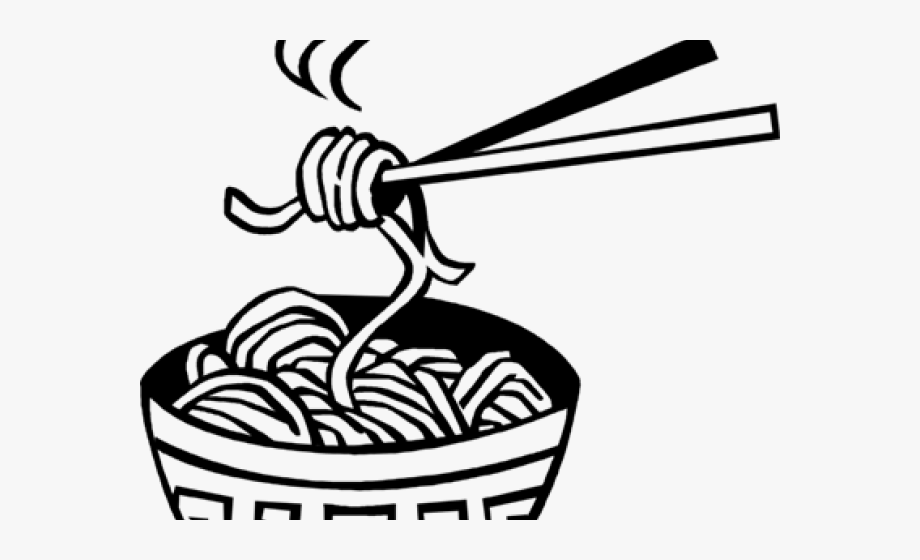 China noodle black and. Noodles clipart dinner chinese