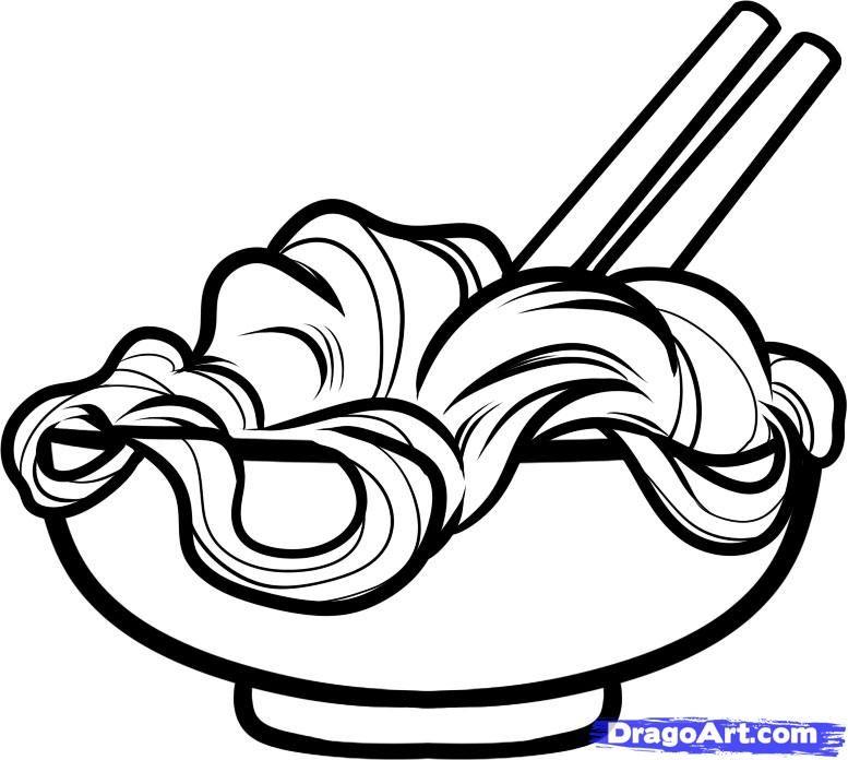 Noodle scrapbook bowls . Noodles clipart bowl drawing