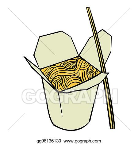 Stock illustration chinese in. Noodle clipart box