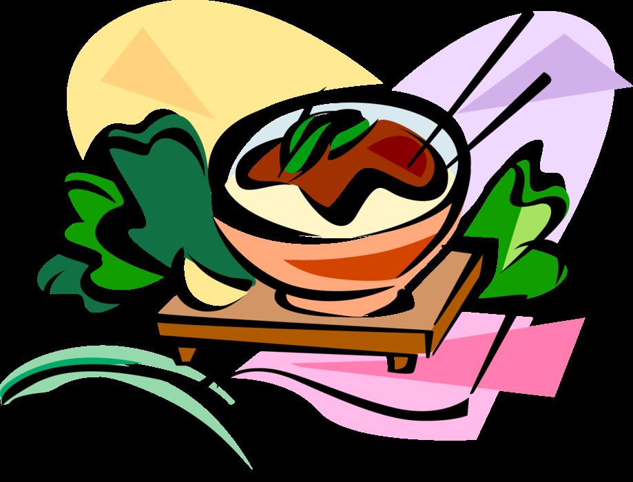 Korean jajangmyeon vector image. Noodle clipart chinese cuisine