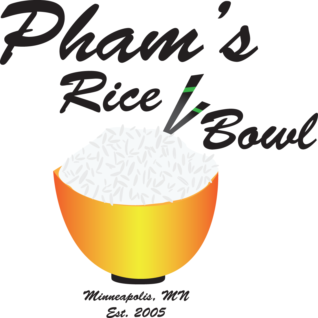 Pham s rice bowl. Noodle clipart dinner chinese