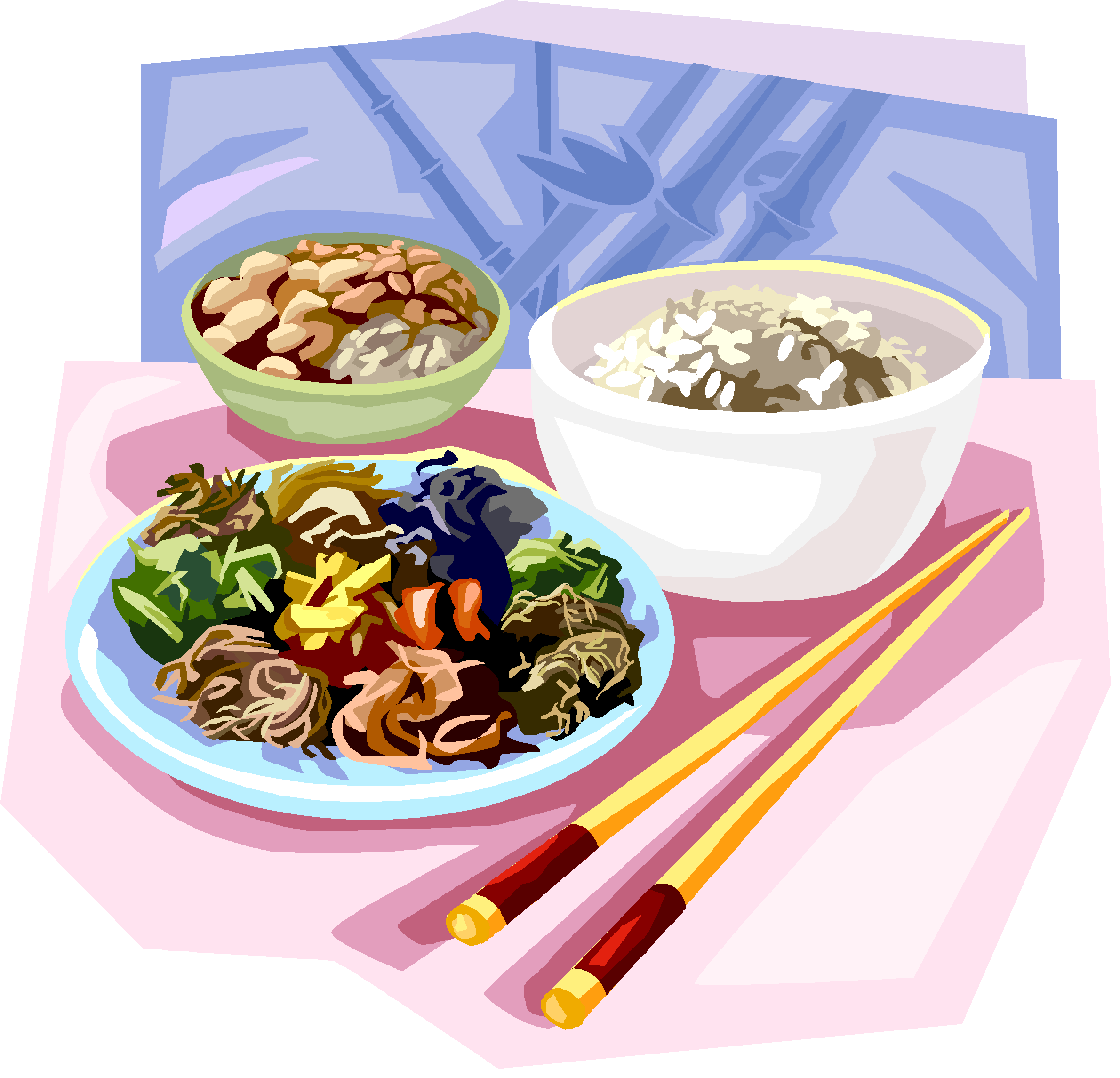 Noodles clipart dinner chinese. Round valley united methodist