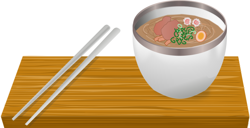 Ramen bowl medium image. Noodle clipart hot noodle