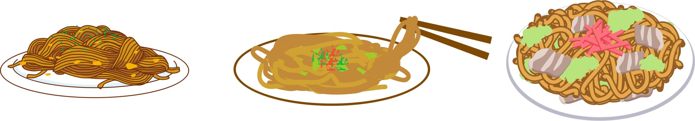 Yakisoba fried big image. Noodles clipart noddles