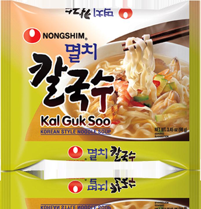 Noodle clipart korean raman. Kal guk soo nongshim