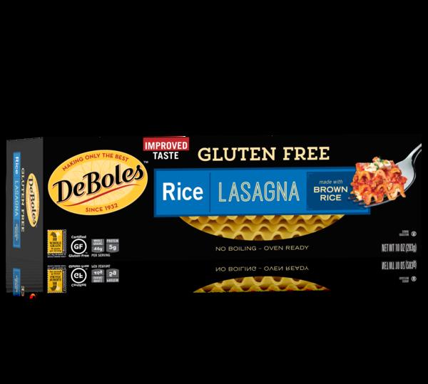 Gluten free lasagna deboles. Pasta clipart rice pasta