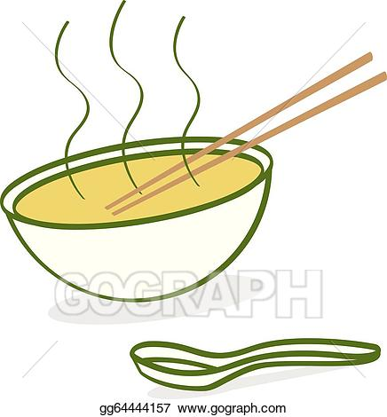 Noodle clipart pho. Vector stock cartoon illustration