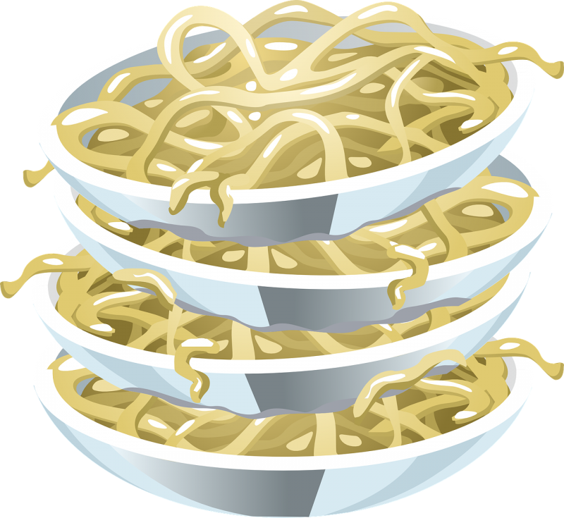 Noodle clipart single.  objects you need