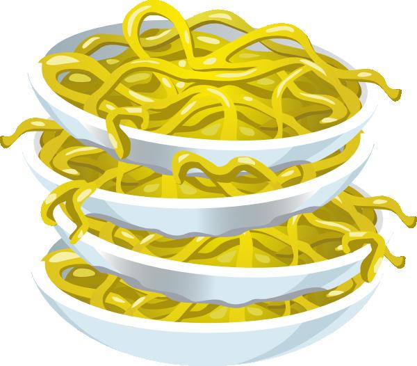 Noodle clipart small. Tangy noodles clip art