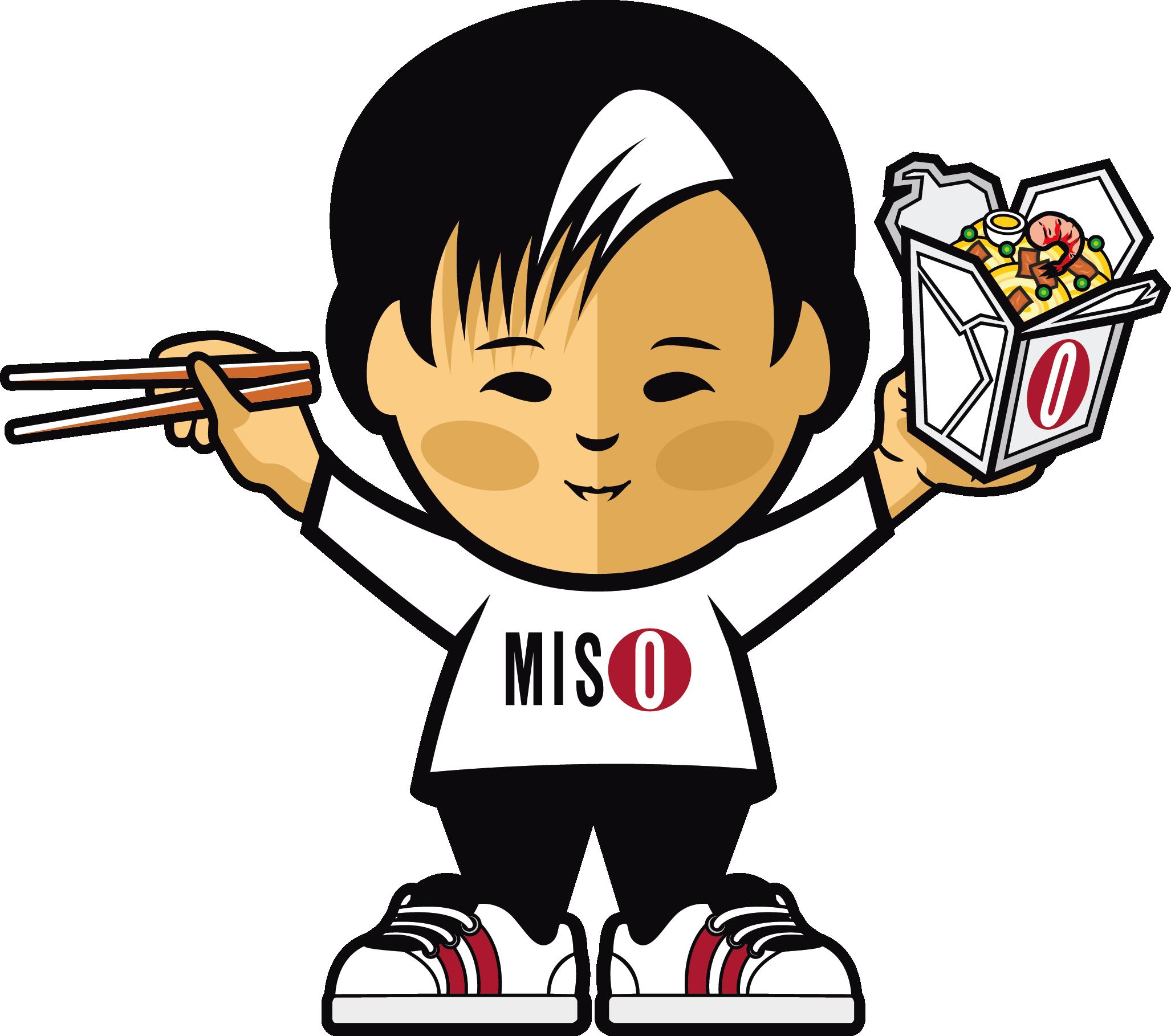 Home miso bar . Taste clipart boy eating noodle