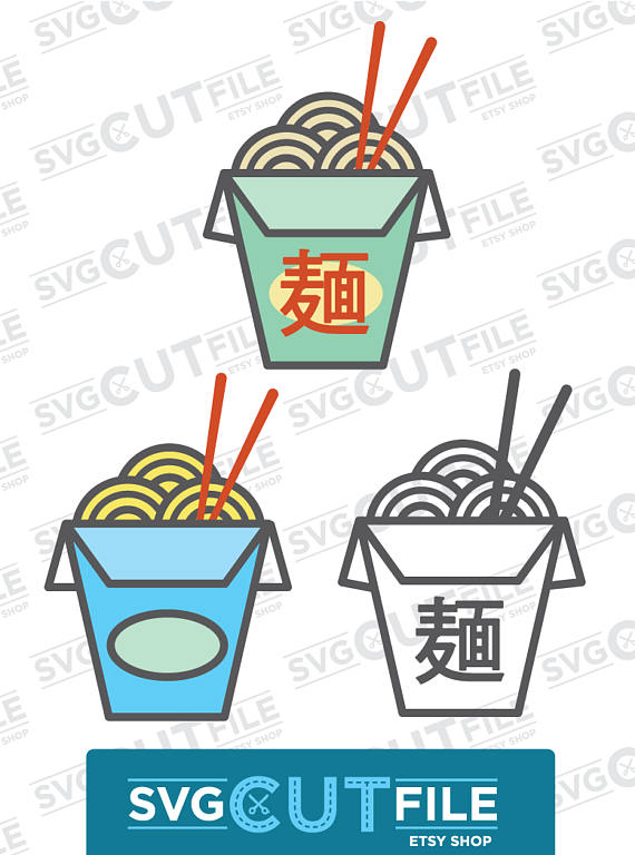 Asian ramen svg food. Noodles clipart restaurant chinese