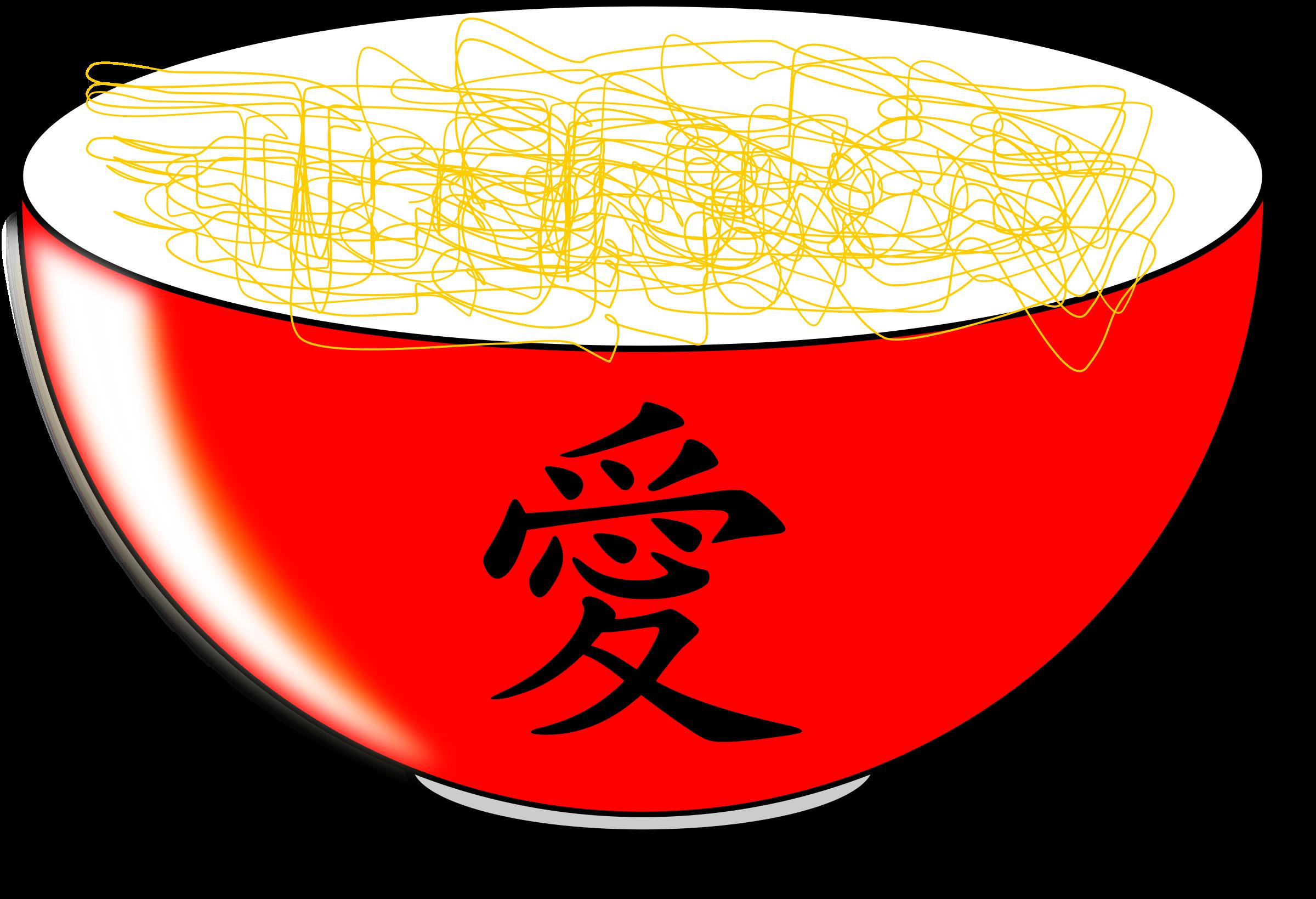 With reflet big image. Noodles clipart plain