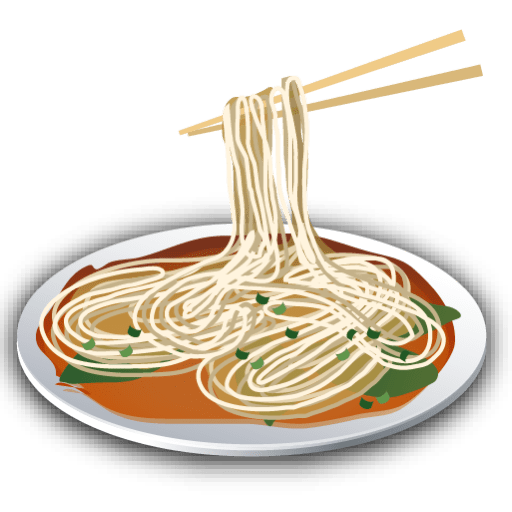 Plate of png stickpng. Noodles clipart transparent