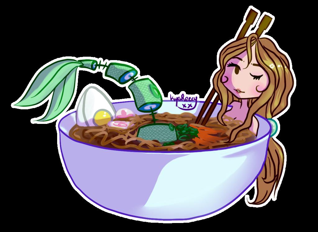 Noodles clipart udon noodle. Slight gore and mermaid