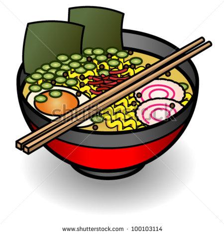 Bowl of . Noodles clipart