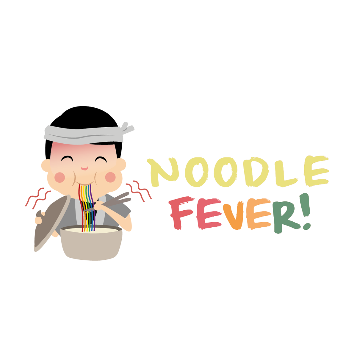 Noodle fever branding on. Noodles clipart european food
