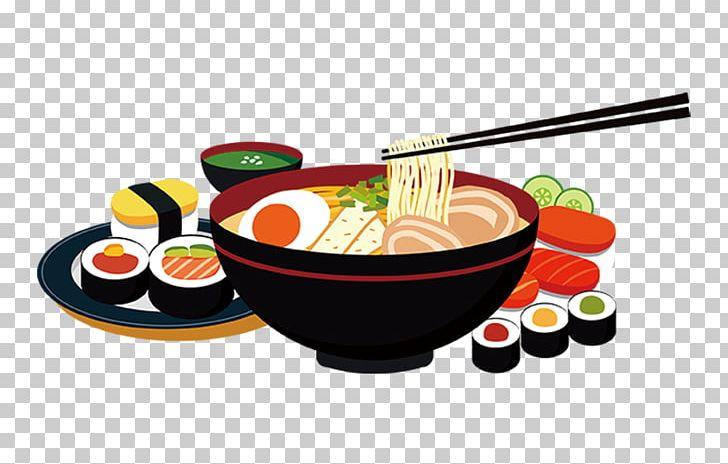 Ramen japanese cuisine tempura. Noodles clipart food japan