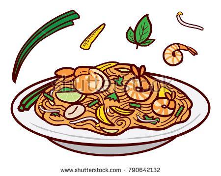 Noodles clipart fried noodle. Image result for illustration