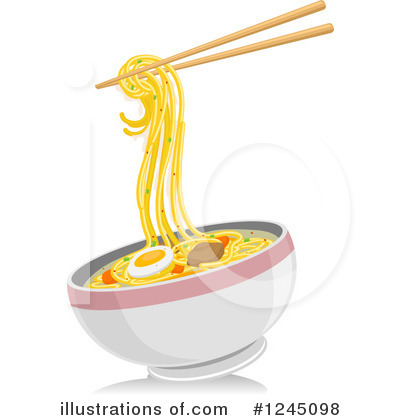 By bnp design studio. Noodles clipart illustration