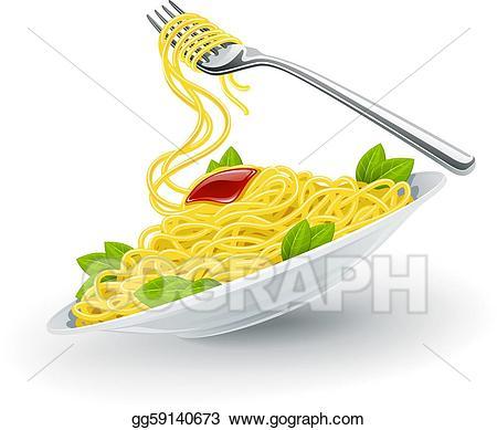 Vector illustration italian in. Pasta clipart pasta italy