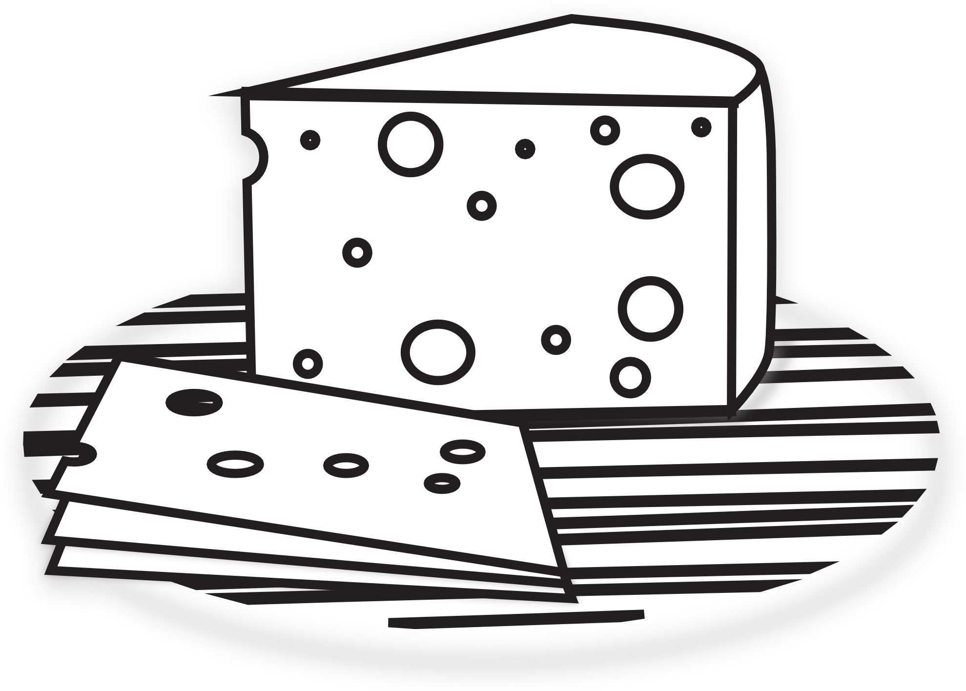 Yearbook clipart cheese. Black and white clipground
