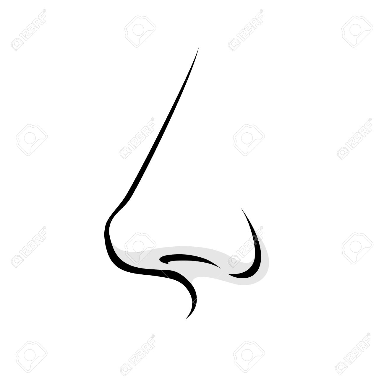 Black and white for. Nose clipart