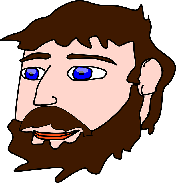 Nose clipart brown nose. Man face hari clipground
