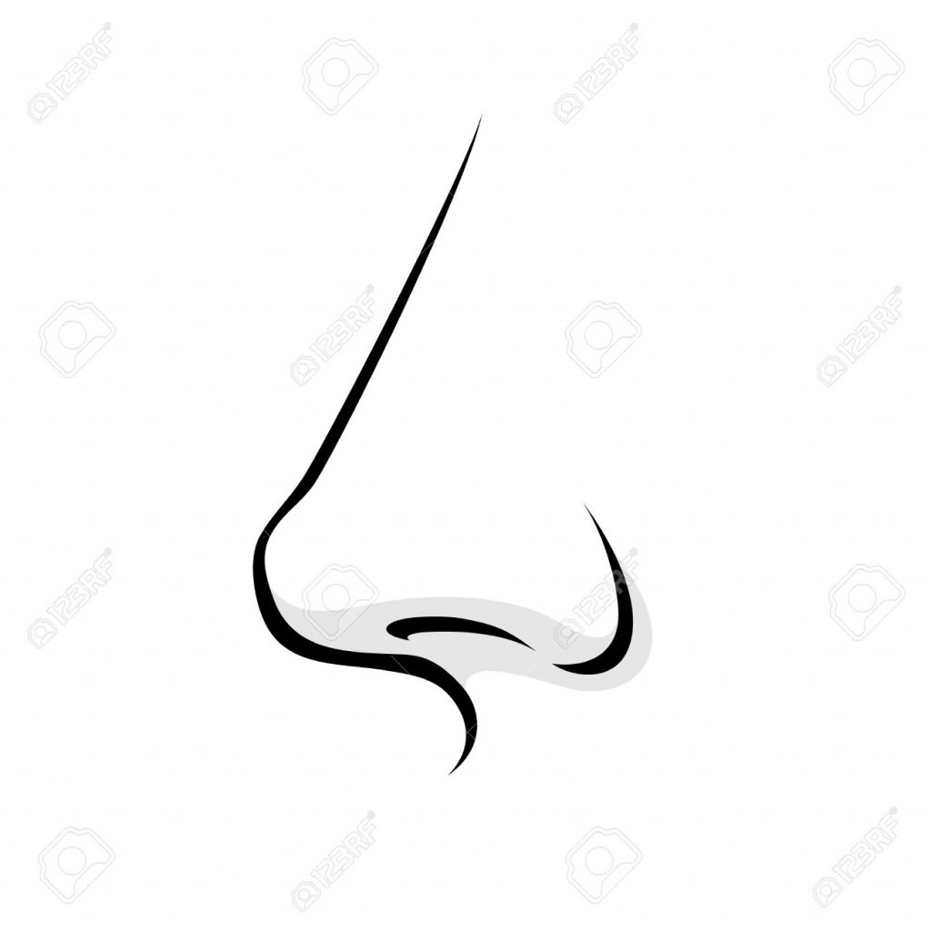 Nose clipart many. Extremely black and white