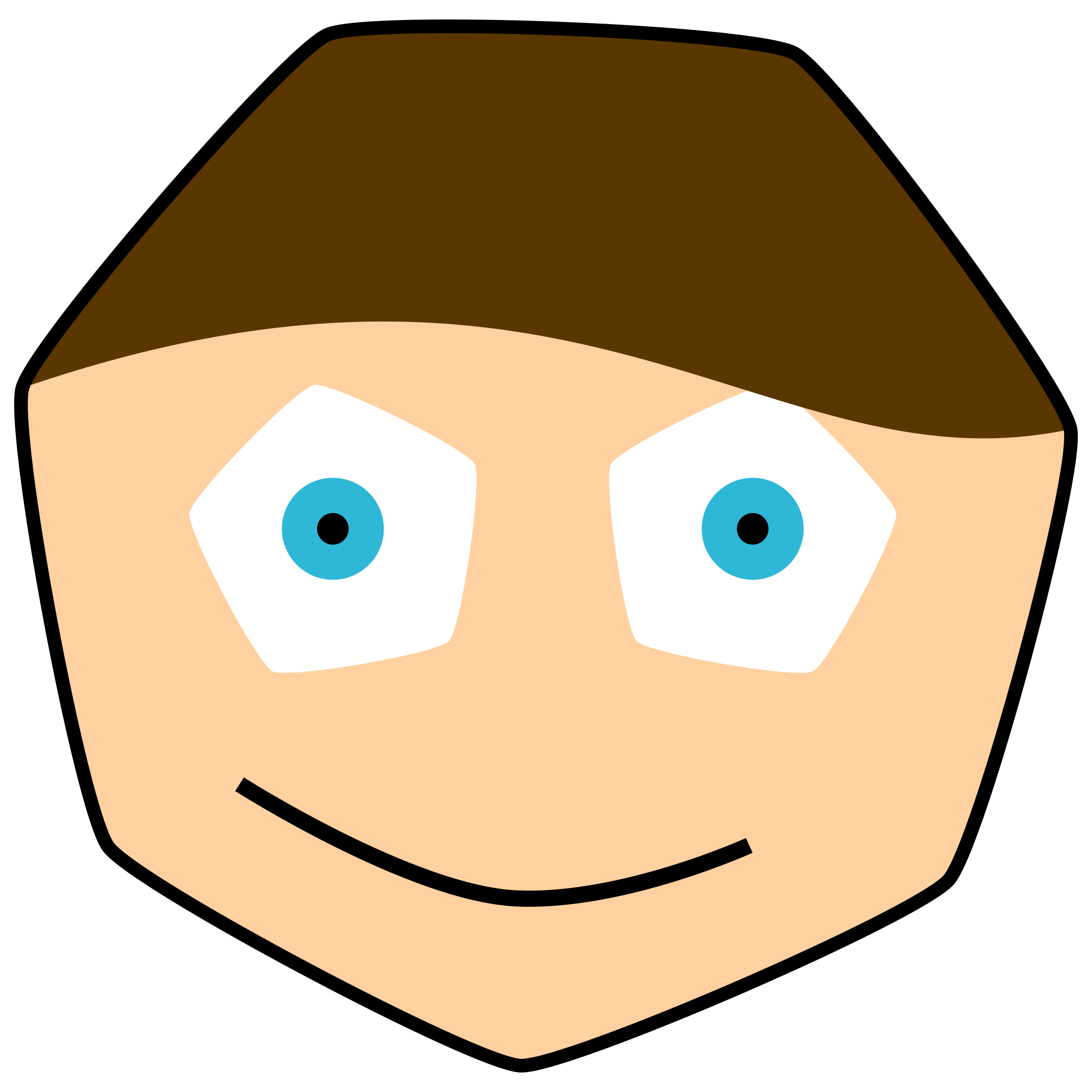 Polygon big image png. Number 1 clipart face