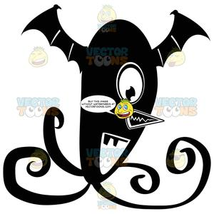 One eye tentacle black. Nose clipart pointy nose