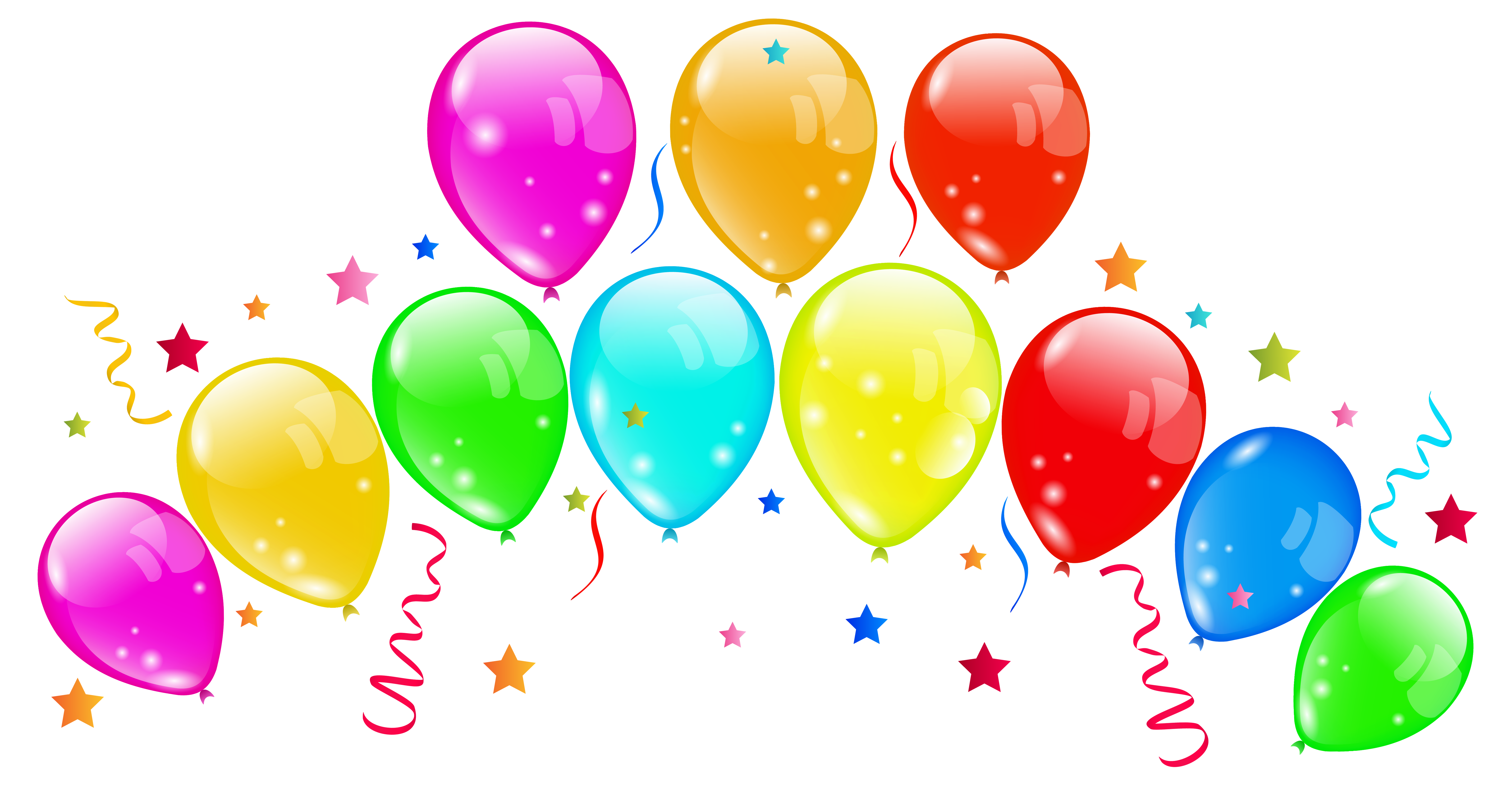 Nose clipart round. Decorative balloons png image