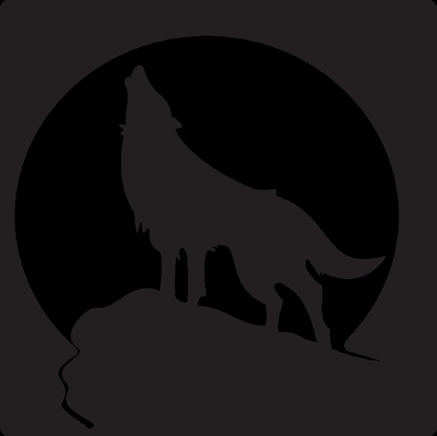 White stencil art free. Wolf clipart nose
