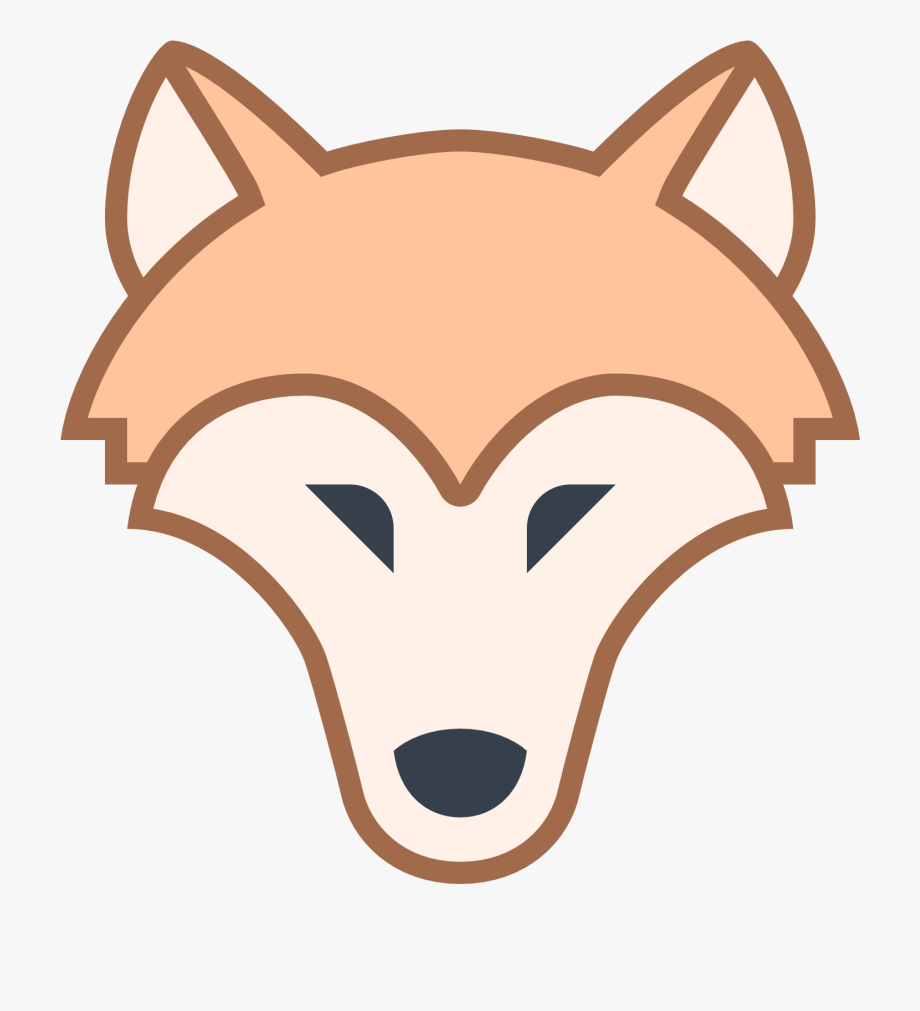 Wolf png flat icon. Wolves clipart nose