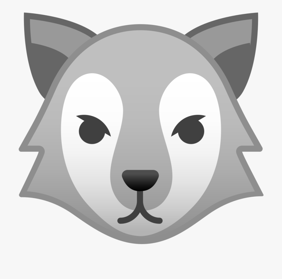 Png emoji lobo free. Wolf clipart nose