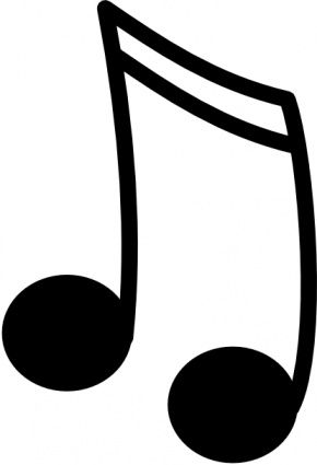 Music note projects to. Notes clipart