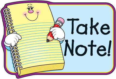 Note clipart. Parent
