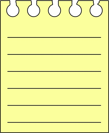 Pad clip art free. Note clipart