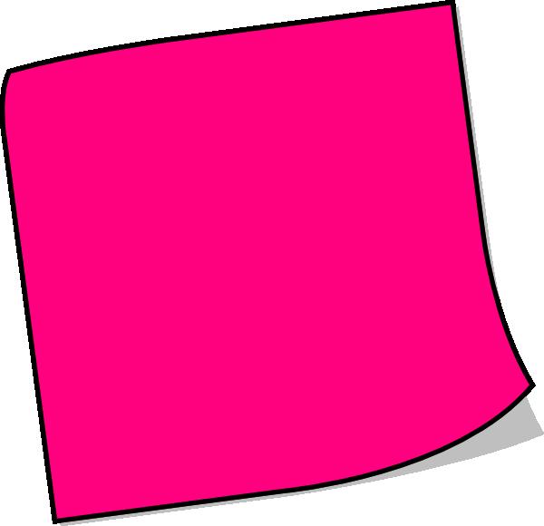 Pink notepad