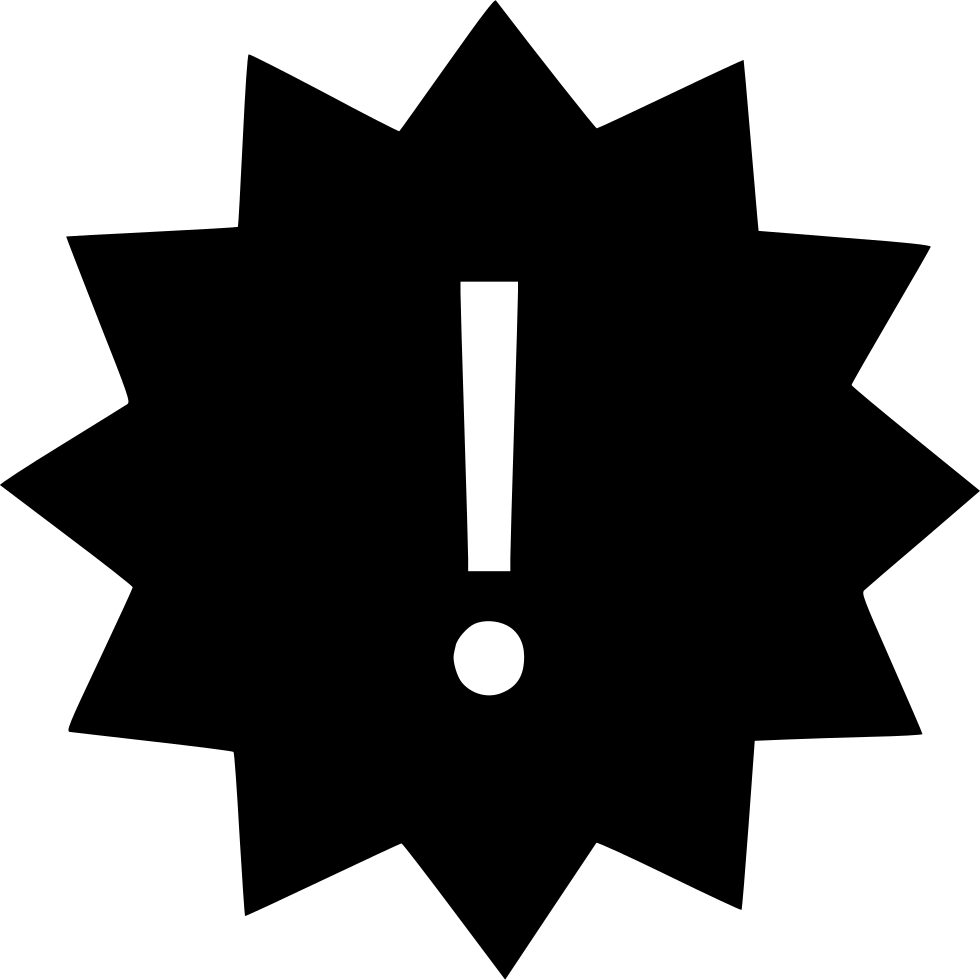 Note clipart exclamation. Mark star svg png