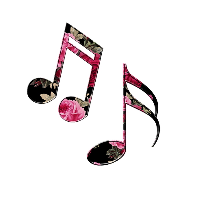 Pictures of music notes. Note clipart individual