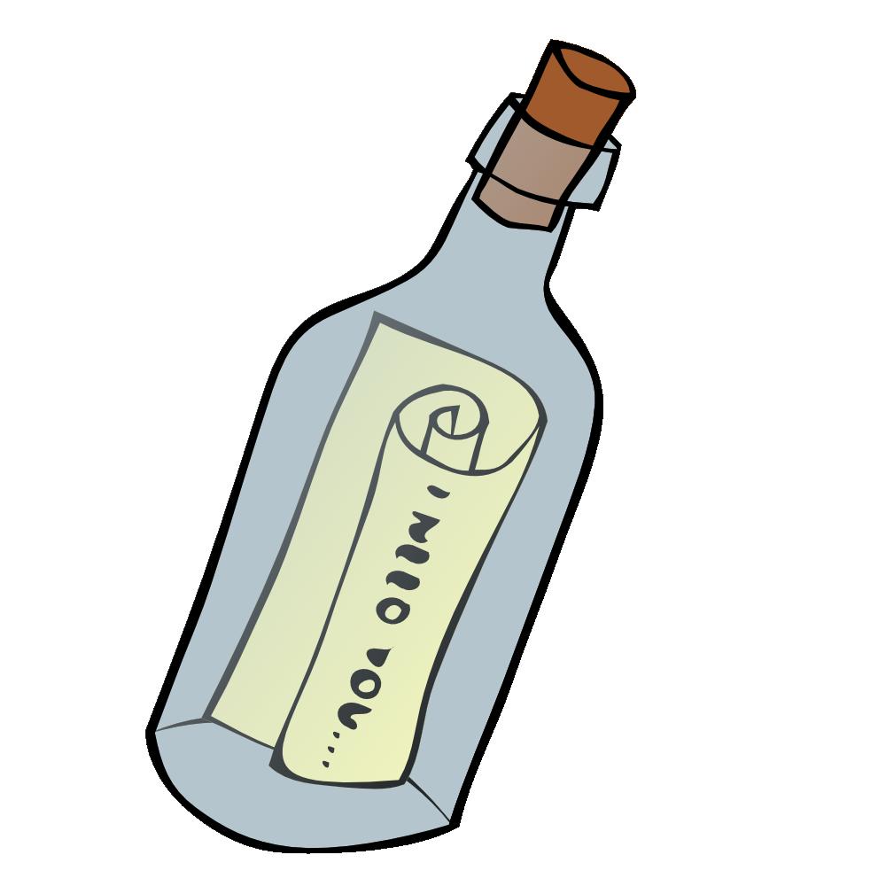 Onlinelabels clip art details. Message in a bottle png