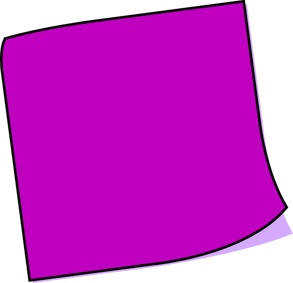 purple clipart sticky note