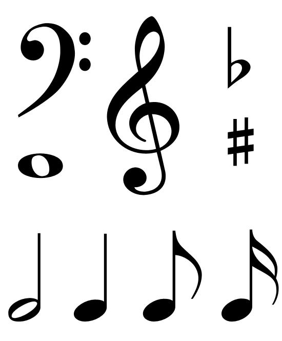 Note clipart music symbol. Free pics of symbols