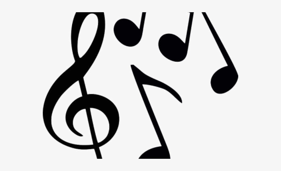 Musical transparent background . Note clipart music