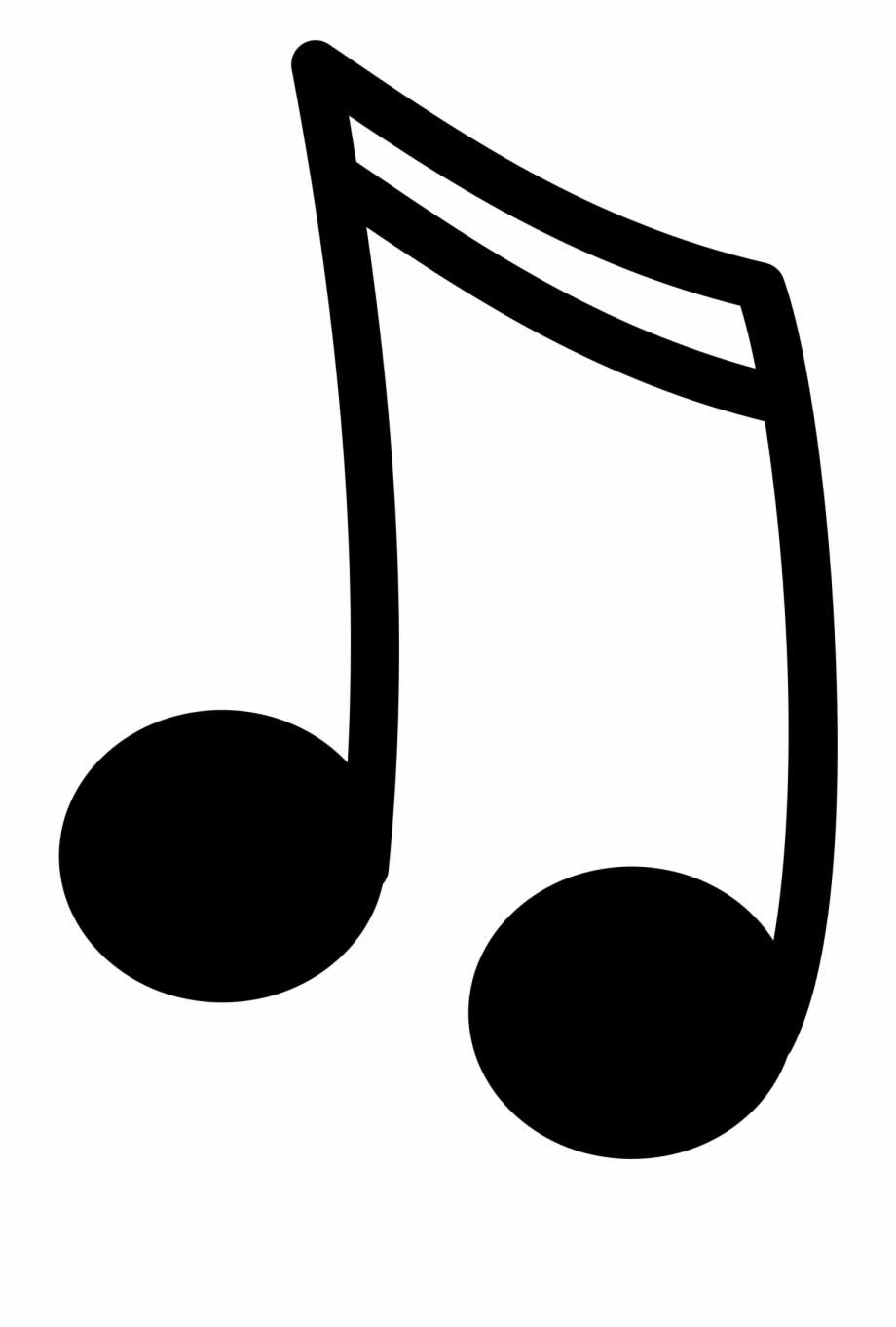 Music note png transparent. Notes clipart misic