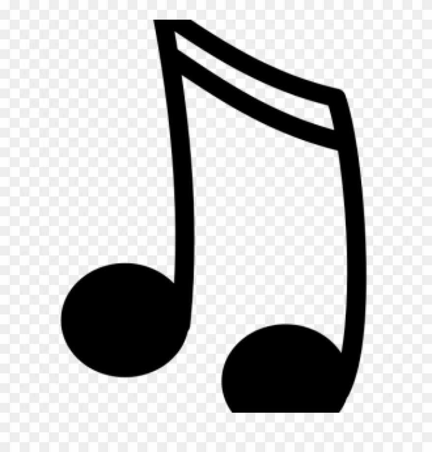 Note clipart nota. Black and white music