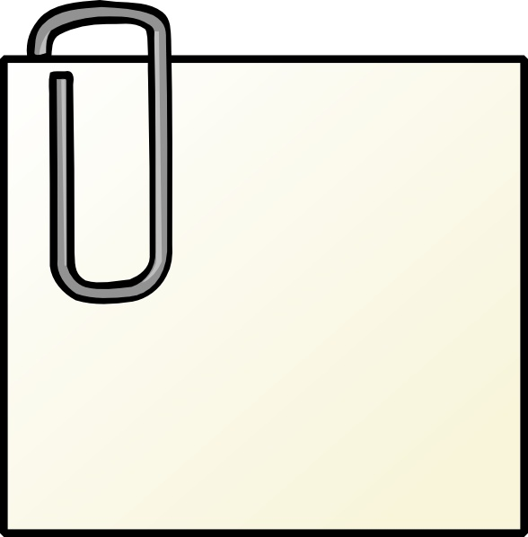 Note clipart paperclip. With clip art free
