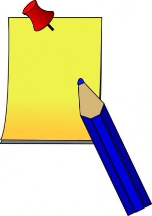 Note clipart pen and paper. Free download clip art