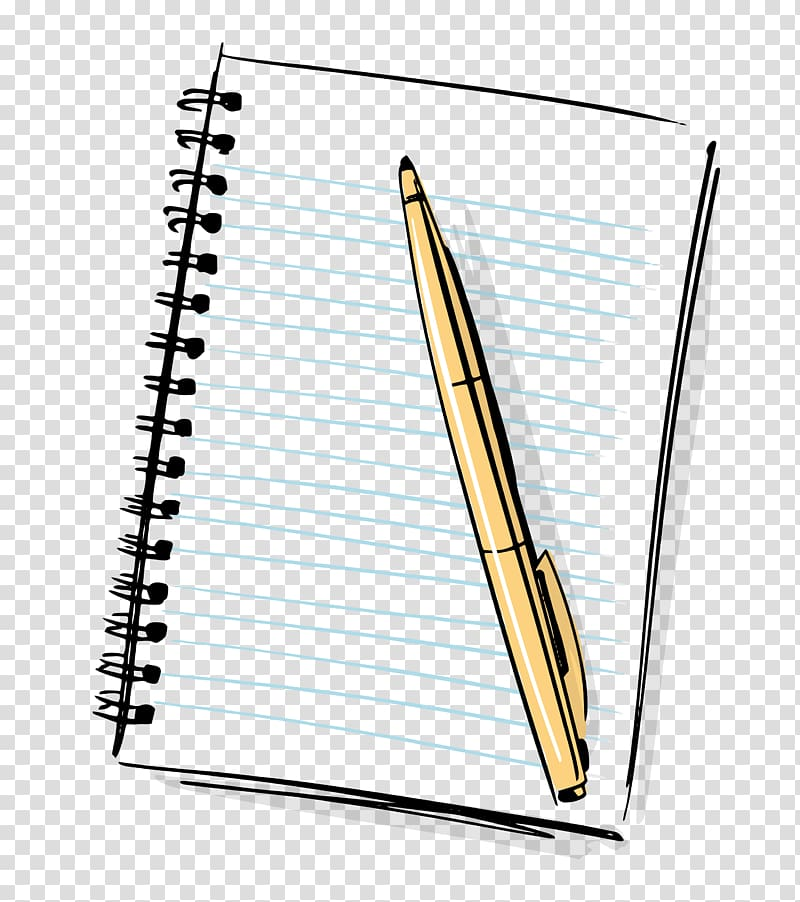 Note clipart pen and paper. Illustration notebook cartoon