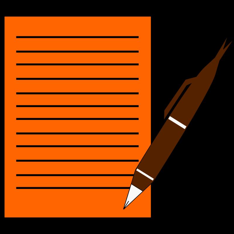Note clipart pencil. Document hanslodge cliparts paperwritepen